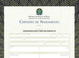Certidão dos Cartório de Registro Civil